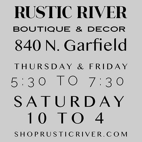 "Shop Rustic River Boutique & Décor ""In House"""